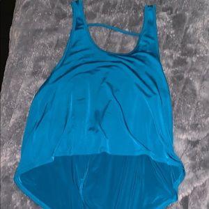 Blue workout tank top